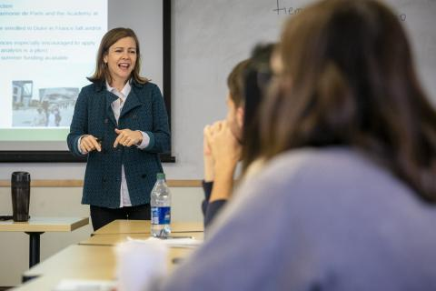 Deb Reisinger, teaching a class