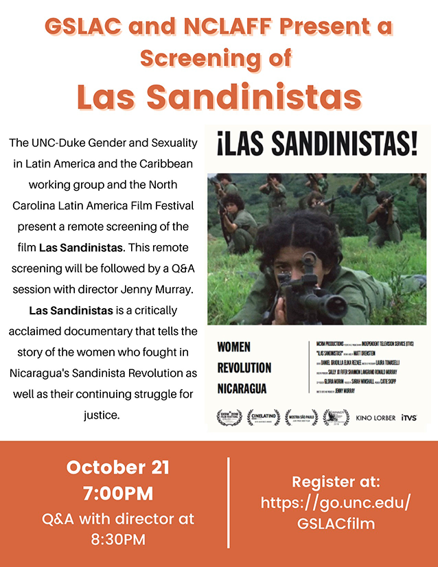 film flyer for Las Sandinistas