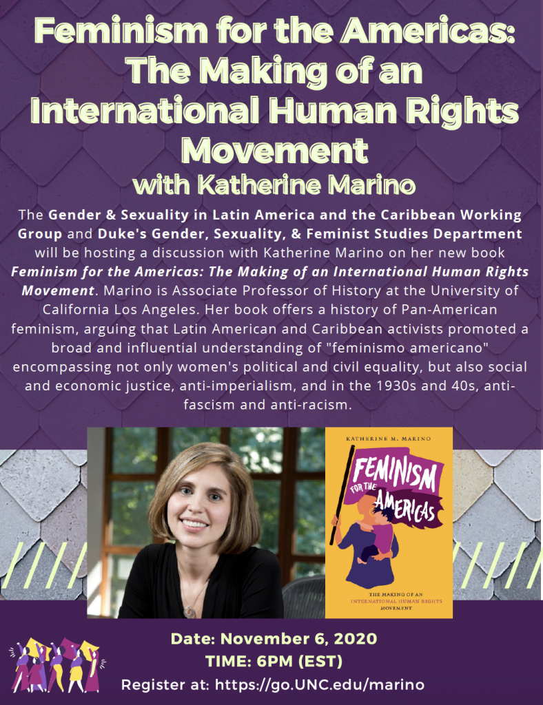 flyer for Katherine Marino