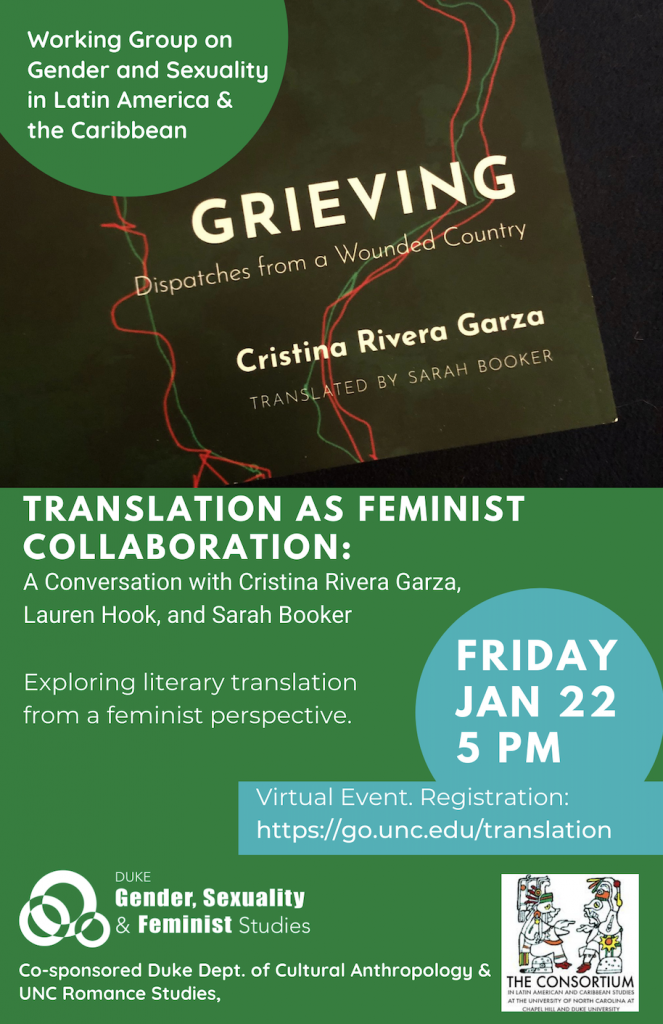 flyer for Translation as Feminist Collaboration