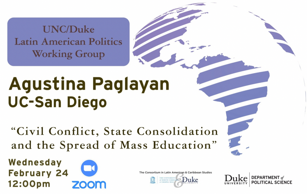 flyer for Agustina Paglayan event