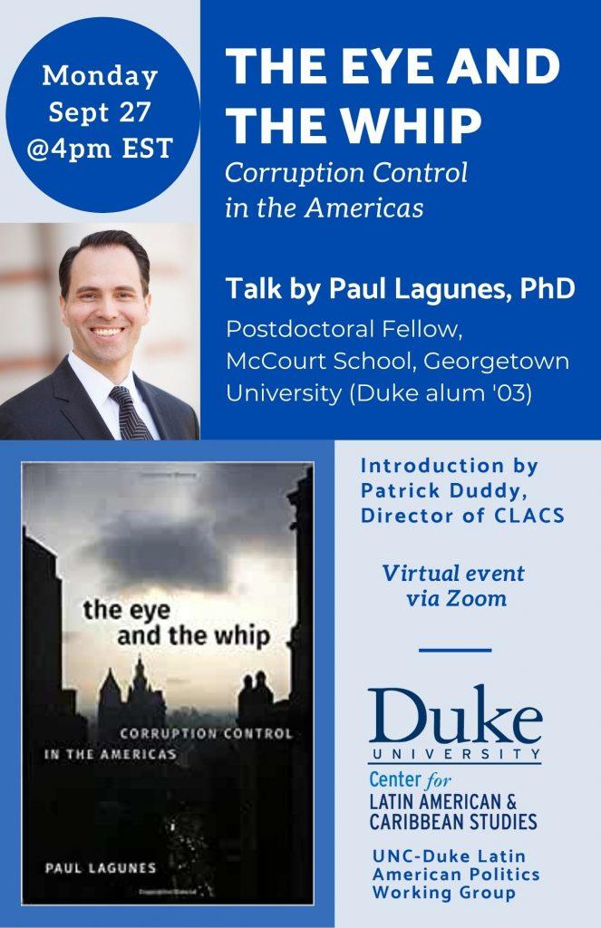 flyer for Paul Lagunes talk