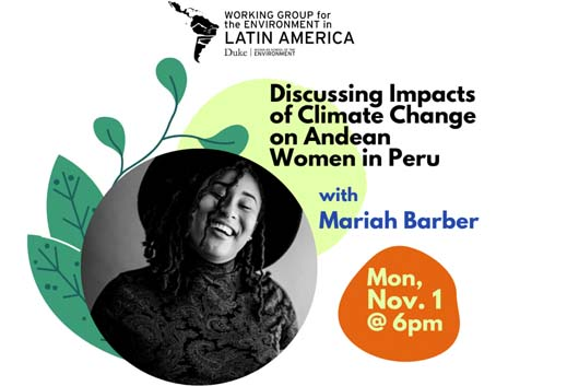 flyer for wgela talk with Mariah Barber